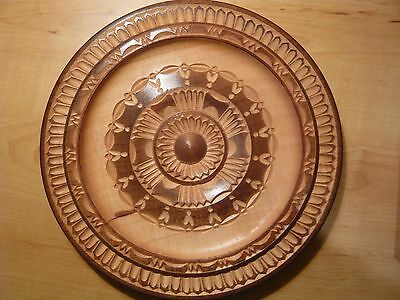 Hand carved wooden plate / plaque from Bulgaria