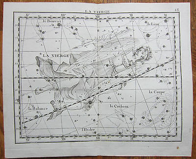 Flamsteed Astronomy Original Celestial Map Virgo - 1776