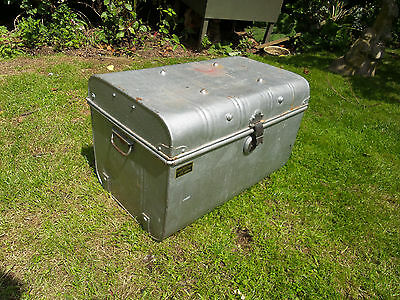 OLD VICTORIAN RAILWAY Metal Chest Coffee Table