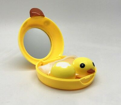 Duck Contact Lens Case Box Holder Container Set Travel,Mirror,Bottle,Stick More