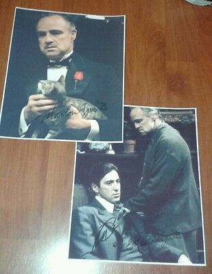 The Godfather Signed Pictures - Large Size. Gangsters Crime. Set Of 2. Al Pacino