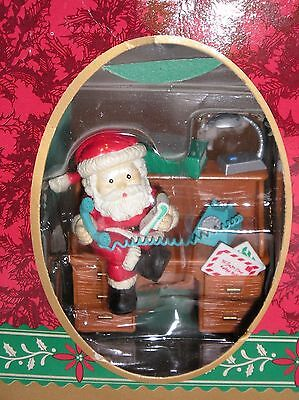 CHRISTMAS TRADITIONS by MATRIX Santa Claus on desk with telephone