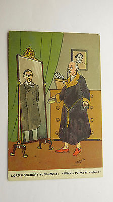 1900s A Ludovici Political Postcard Joseph Chamberlain Lord Rosebery Imperialism