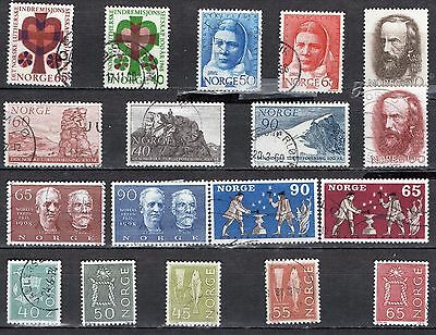 Norway, 1968, Complete Year Set, 18 Stamps, Vf