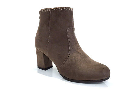Ladies Womens Ankle High Khaki Suede Faux High Heel Tassel Boots Shoes Size 7