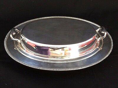 VINTAGE BM Co. SILVERPLATE COVERED SERVING DISH ARLINGTON PATTERN