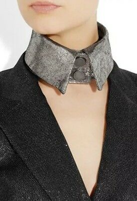 KARL LAGERFELD Cracked 100% Leather Collar 100% Authentic - RRP £125