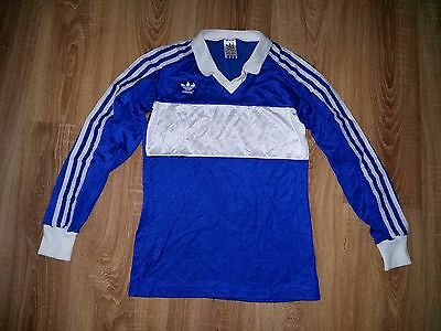 Adidas 80s very rare vintage Blue made in West Germany long sleeve shirt size S