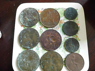 Collection of old pennies