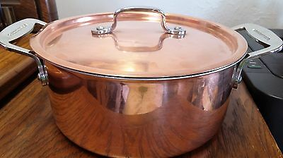 """Italy Lagastina Try Ply Copper Cookware Pot 4""""kitchenware,metalware,collectible,"""