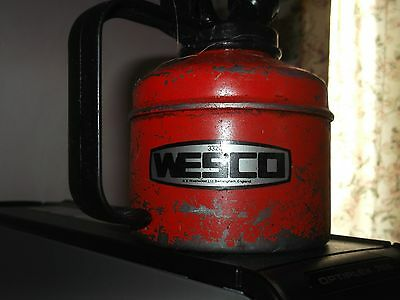 vintage Wesco oil can in clean condition