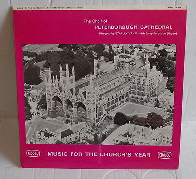 Choir Of Peterborough Cathedral Music For The Church's Year LP EX / EX