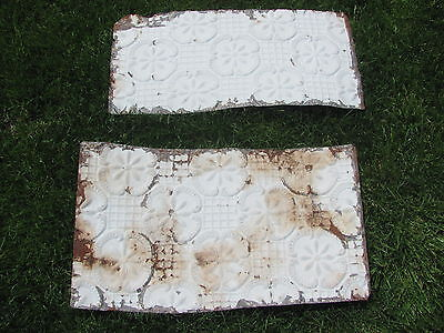Vintage Antique Architectural Salvaged Ceiling/Wall Metal Tin Tile Panels