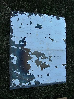 Vintage Antique Architectural Salvaged Ceiling/Wall Metal Tin Tile Panel