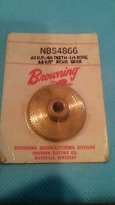 Browning Spur Gear 48 D.p. 1/4 Bore 66 Teeth 14 1/2 ° 1/4 -Bore