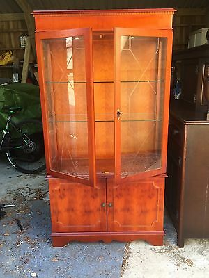 Yew Glass Display Cabinet