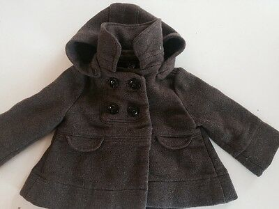 Girl's coat/jaket with hood by Zara. Size 2-3 years/ 98 cm