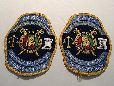 Set of 2 Vintage Huntsville Alabama Police Patches Collectible