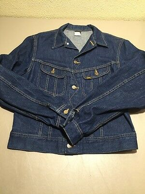 Vtg LEE Riders Patd-153438 Trucker Denim Jean Jacket Youth Size 20 Made In USA