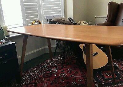 Vintage Ercol Midcentury Plank Dining Table