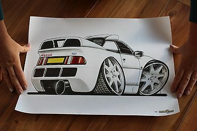 MOLE ART Print FORD RS200