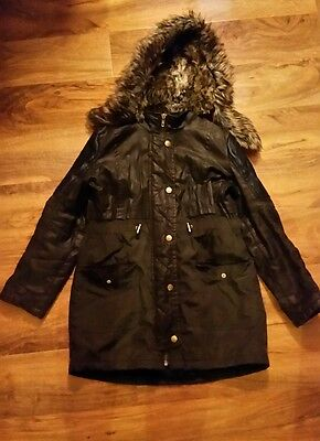 river island girls parka coat size 11 years