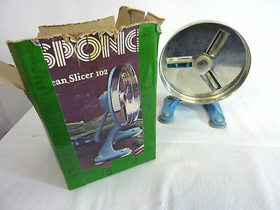 Spong Bean Slicer 102. Suction version. Good condition. Boxed  #CP#