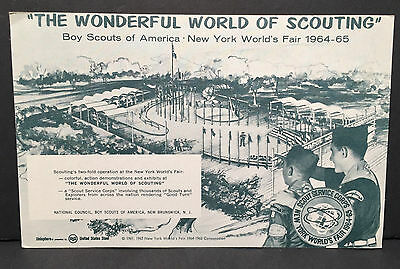 Wonderful World of Scouting Oversized Post Card 1964 NY World's Fair