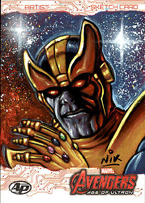 Avengers Age of Ultron THANOS SketchCard by Nick NIK Neocleous