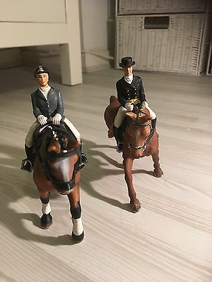 schleich horses And Two Dressage Riders