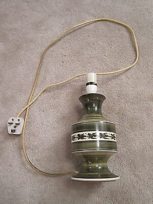 Rare green and white Jersey Pottery lamp base