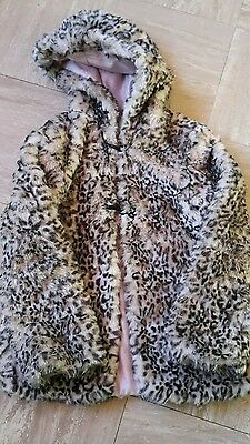 girls M&S fur coat age 11-12