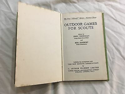 Outdoor Games for Scouts by Gilcraft, 1961