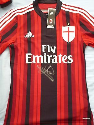 Clarence Seedorf Signed AC Milan Shirt -Holland, Football Autograph, Real Madrid