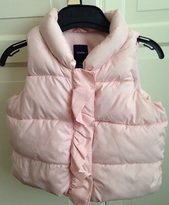 Baby Girls Body Warmer/ Gap/ Pink/ Fleece Lined/ 12-18 Months