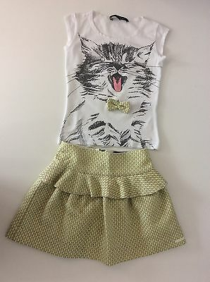 LILI GAUFRETTE skirt & Top Outfit Set Age 8 Years Girls