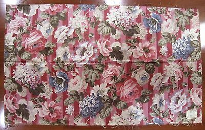Antique 19th C. French Silk Floral Fabric