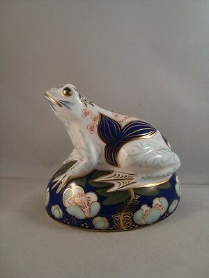 Royal Crown Derby Frog Moneybox 1st Quality With Box & Certificate