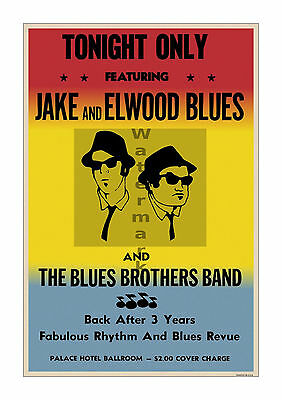 Blues Brothers Palace Hotel Film Movie Poster [6 sizes, matte+glossy avail] v2