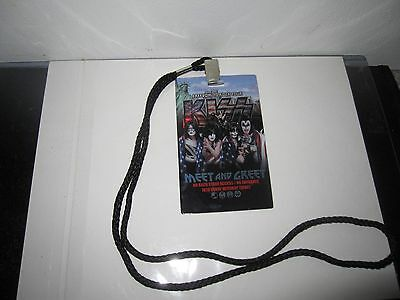 Kiss Freedom To Rock Tour Vip Merchandise Laminate Pass Gene Simmons Stanley