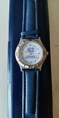 rothmans williams renault formula one watch in original box collectible
