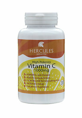 High Strength Vitamin C 1000mg x 120 Time Release Vegetarian Tablets