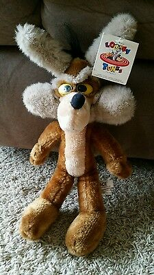 "Vintage WILE E. COYOTE Warner Brothers 1994 LOONEY TUNES Plush Stuffed 12"" ACE"