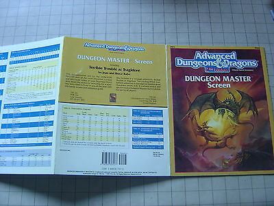 DUNGEON MASTER'S SCREEN w/ Terrible Trouble  AD&D ref1 2E D&D Dungeons & Dragons