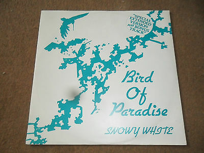"""Snowy White    Bird of Paradise  (extended version)12"""" single  p/s 1983 12TOW42"""