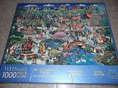 WH Smith 1000 Piece Jigsaw Puzzle THE VICTORIAN ZOO by Bill Bell