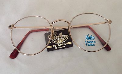 Round New But Original 1980's Metal Lessar Brothers Quality English  Frame