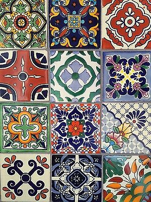 OUT OF STOCK TEMPORARILY. 6 WEEK WAIT. 25 Mexican Moroccan mosaic talavera tiles
