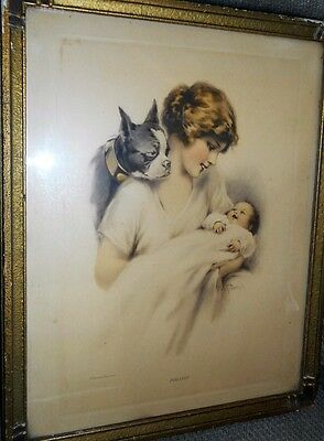 Vintage Original Eda S. Doench -Gutmann & Gutmann Print/picture Titled Jealousy