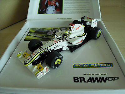 Scalextric C3047a Brawn 'Jenson Button' - Limited Ed' - Brand New in Box.